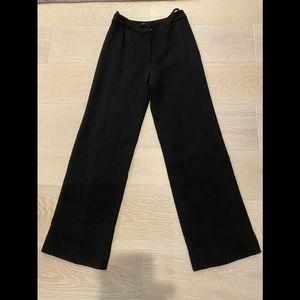 Chanel black wool crepe pants